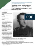 Soţia Poetului-martir Ion Şiugaru îi scrie ministrului Bogdan Aurescu