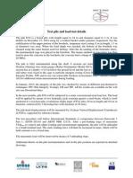 TEST PILE and Load Test Procedure Details