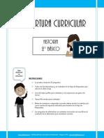 Cobertura Curricular Historia 2º basico 2012