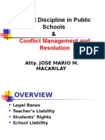 Legal Aspects of School Discipline for Public Sec. Schools
