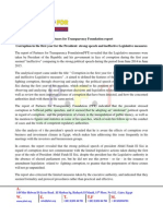 Partners for Transparency Foundation Report