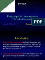 Project Quality Management PMP