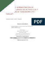 Evaluacion Sistema de Administración de Riesgo de Lavado de Activos