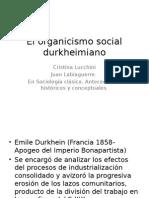 El Organicismo Social Durkheimiano