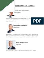 Ministros de Chile y Su Cartera Dd