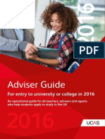 UCAS Adviser Guide 2016