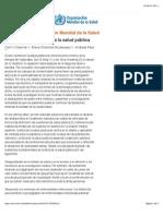 OMS | Contribución de la ética a la salud pública