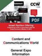 CCW Israeli Pavilion Opportunity - 3Aug2015