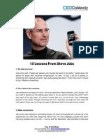 15 Lessons From Steve Jobs