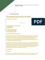 Normalizacion para base de datos