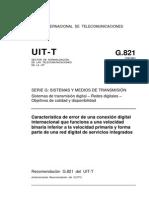 Recomendación G 821