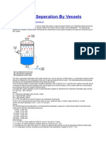 Gas Liquid Seperation by Vessels