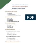 Oracle Apps DBA New Syllabus