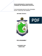 Informe Técnico Navegabilidad Río Urubamba (Atalaya - Boca Río Camisea)