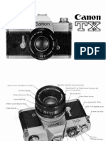 Canon TX Film Camera User Manual