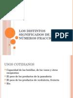 Los Distintos Significados de Los Números Fraccionarios