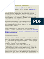 Brief History and Origin of Res Judicata