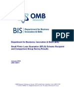 SME Loan Guarantee Scheme Recipient and Comparison Group Survey Results-UK-2010