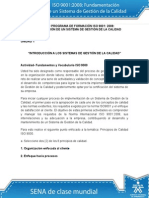 Fundamentos ISO 9001, actividad 1
