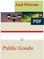 Public and Private Goods