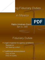 Reshaping Fiduciary Duties in Mexico (2005)