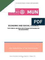 Study Guide ECOSOC-Topic-Area-B Rotaract Global Mun 2015