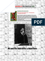 27485346 Organization of Afro American Unity Malcolm X and the OAAU Aims and Objectives Mp3s Included