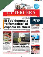 Diario La Tercera 19.08.2015