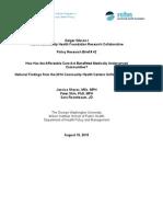CHCs and ACA 2015.pdf