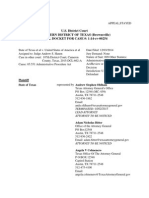 USDC-TXSD 14-Cv-254 PACER Docket Report as of 8-19-2015