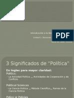 Aproximación a la Definición de Política