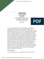Carta Encíclica Lumen Fidei (29 de Junho de 2013) _ Francisco
