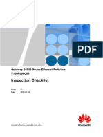 Inspection Checklist Ethernet Switch