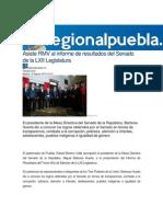 18-08-2015 Regional Puebla.mx - Asiste RMV Al Informe de Resultados Del Senado de La LXII Legislatura