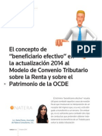 El Concepto de Beneficiario Efectivo en La Actualización 2014 Al Modelo de Convenio Tributario Sobre La Renta y Sobre El Patrimonio de La OCDE