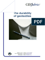 The Durability of Geotextiles