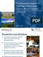Buncombe CountBuncombe County Tourism Impacts 2014 Study by Tourism Economicsy Tourism Impacts 2014 Study