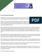 Prevent Premature Ejaculation