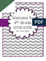 4th Grade Classroom Handbook