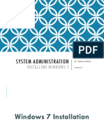 Session 1_Lecture 1 - Installing Windows 7