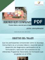 Taller Sobre Abordaje Comunitario, Ana Geraldo 2013