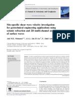 Site-specific Shear Wave Velocity Investigation