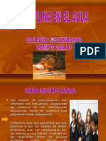 Proyecto-Indisciplina en El Aula-colegio Campo Gallo-sgo Del Estero