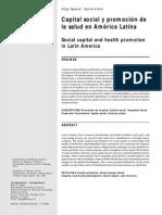Capital Social y Promocion de Salud