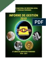 Informe 2010 Medicina Legal