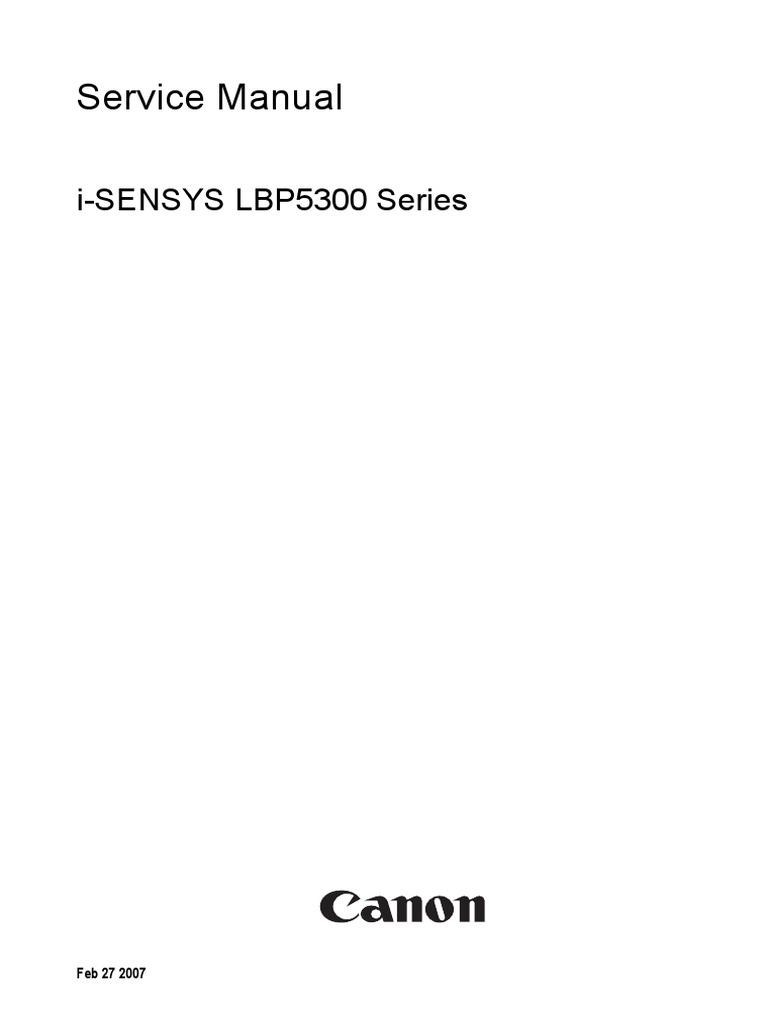 canon i sensys lbp5300 5360 signal electrical engineering rh scribd com