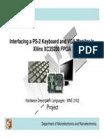 PS2 Keyboard and VGA Output