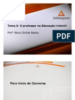 VA Organizacao Metodologia Educacao Infantil Aula 08 Tema 08