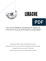One in One Hundred - Examining the Impact of a 10-Year Freeze on Pell Grants on Long Island