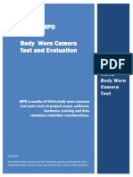 VieVu Body Worn Camera Test Evaluation and Report for Minneapolis Police